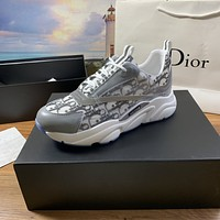 dior fashion men womens casual running sport shoes sneakers slipper sandals high heels shoes 395