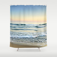 Serenity sea. Vintage Shower Curtain by Guido Montañés