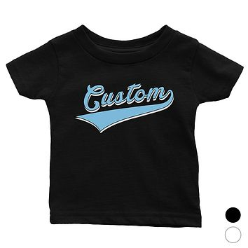 Blue College Swoosh Bright Cool Rad Baby Personalized T-Shirt Gift