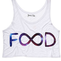 Galaxy Infinity Food Crop Tank Top