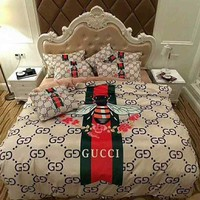 Gucci Bed Set Cover Luxurry cotton Home Decor Queen size Bed Sheets