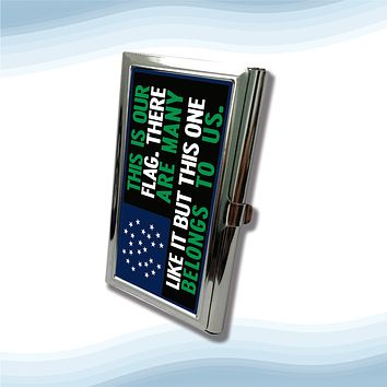 NYPD This Is Our Flag Metal Business Cardholder