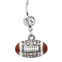 Football Belly Ring 14G Belly Button Ring Dangle [Jewelry]