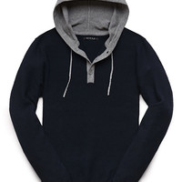 Hooded Henley Sweater