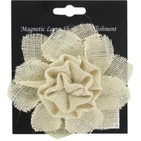 Burlap Flower Magnetic Lamp Shade Embellishment | Shop Hobby Lobby