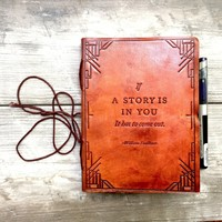 """""""If A Story"""" Handmade Leather Journal"""