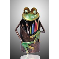 Decorative Iron Frog Pen Stand