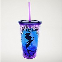 Silhouette The Little Mermaid Cup with Straw - 16 oz - Spencer's