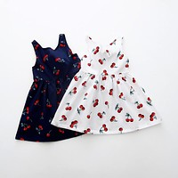 Summer Baby Halter Printed Kids Dresses For Girls Party Wear Children Clothing Girl 2 To 8 Years Sundress