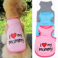 Pet Dog Cat Cotton Vest Clothes T Shirt Coat Puppy Costume Apparel Hot sale