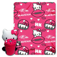 Baltimore Ravens NFL Hello Kitty with Throw Combo