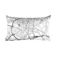 Frederick Map Throw Pillow