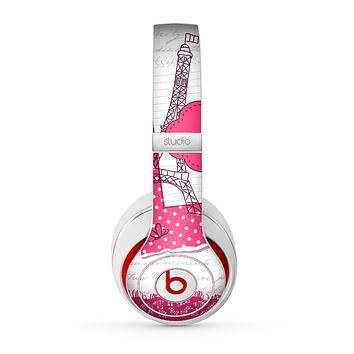 The Paris Pink Illustration Skin for the Beats by Dre Studio (2013+ Version) Headphones