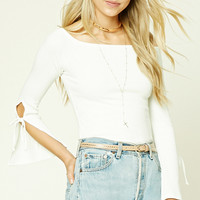 Off-the-Shoulder Self-Tie Top