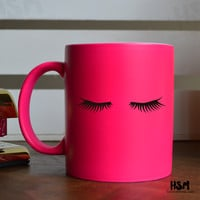Eyelashes Coffee Mug