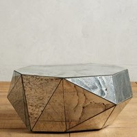 Faceted Mirror Coffee Table by Anthropologie in Silver Size: Coffee Table Wall Decor