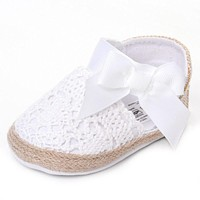 Baby Girls Shoes Princess Cute Bow-knot First Walkers Fashion Infant Toddler Home Slippers No-slip Soft Sole Prewalkers Cheap