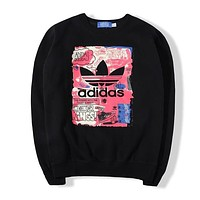 Adidas Women Fashion Top Sweater Pullover Sweatshirt-6