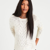 AE Chunky Cable Knit Sweater, Cream