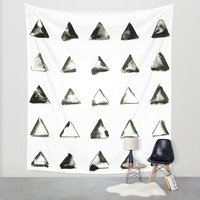 triangles Wall Tapestry by LEEMO