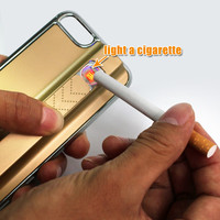 hotsale Electronic Rechargeable Cigarette Lighter hard back case Protective Cover Case Cover For iPhone 4 4S 5 5S with retail package promot