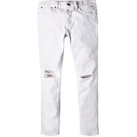 River Island MensWhite ripped knee Eddy skinny stretch jeans