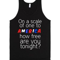 How Free Are You Tonight-Unisex Black Tank