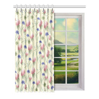 """Window curtains - 1 piece, 52"""" wide, Variable Length, Home, Decor, Bedroom, Kitchen, Style, Pink, Grey, Beige, Designer, Abstract, Modern"""