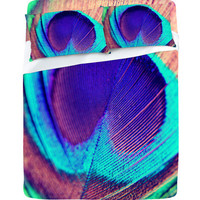 DENY Designs Home Accessories | Shannon Clark Pretty Peacock Sheet Set