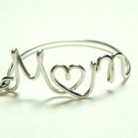 Mother s day  Mom ring sterling silver 925 gift by keoops8 on Etsy