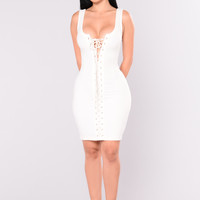 Too Much Sauce Dress - Ivory