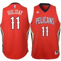 Jrue Holiday # 11 New Orleans Pelicans Youth Adidas Red Swingman NBA Jersey