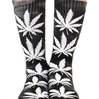 BLACK TIE DYE PLANTLIFE SOCK