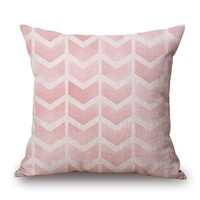 Geometric Print Throw Pillow Cover