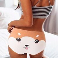 Cotton Cartoon Print Soft Seamless Panties