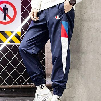 Champion New fashion logo sports leisure pants Blue