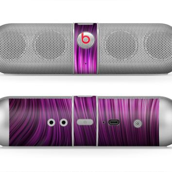 The Pink Vector Swirly HD Strands Skin for the Beats by Dre Pill Bluetooth Speaker