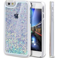 "iPhone 6S Case, ikasus iPhone 6S Case 4.7"",Liquid Case for iPhone 6S,Case for iPhone 6S,Hard Case for iPhone 6S, Fashion Creative Design Flowing Liquid Floating Luxury Bling Glitter Sparkle Love Heart Hard Case for Apple iPhone 6S (2015)/ iPhone 6 (2014) ("