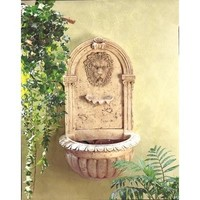 Lions Head Wall Mount Water Fountain