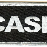Johnny Cash Iron-On Patch White Letters Logo