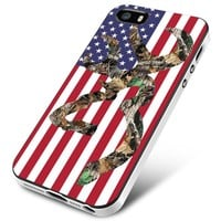 Browning Deer Camo American Flag iPhone 5 | 5S | 5SE Case Planetscase.com