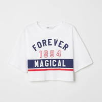Short Printed T-shirt - Black/London - Kids | H&M US