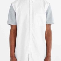 ZANEROBE Eight Foot Colorblocked Button-Down Shirt- White