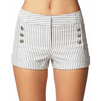 Railroad Stripe Matelot Shorts
