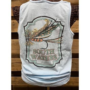 Backwoods South Waters Fishing Lures Bright Comfort Colors Unisex T Shirt Tank Top