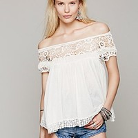 Free People Womens Heart Throb Babydoll Top