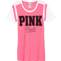 Pieced Athletic Tee - PINK - Victoria's Secret
