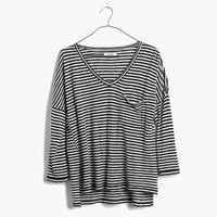 Melody Pocket Tee in Stripe