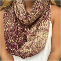 Flakes of Gold Knit Infinity Scarf - Flakes of Gold Knit Infinity Scarf
