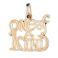 14K GOLD SAYING CHARM - ONE OF A KIND #10509